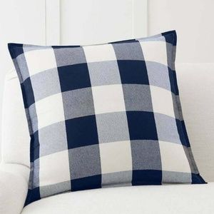 Pottery Barn Buffalo Check Plaid Blue Pillow Cover